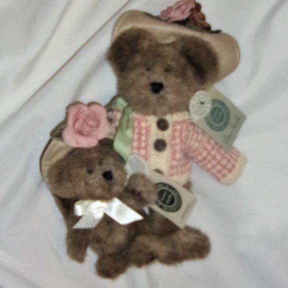 boyds teddy bear bundle set mom and baby toy plush